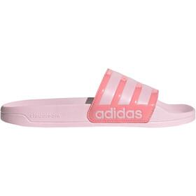 adidas Adilette Shower Slides Women clear pink/clear pink/super pop